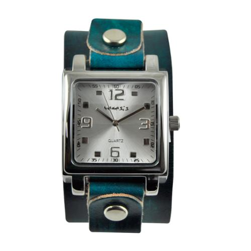 Nemesis Women's Square Dial Leather Band Watch