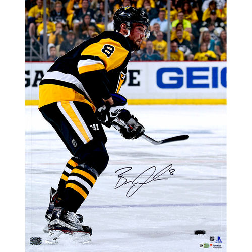 """""""Brian Dumoulin Pittsburgh Penguins 2016 Stanley Cup Champions Autographed 16"""""""" x 20"""""""" Black Jersey Shooting Photograph - No Size"""" 793389242108"""