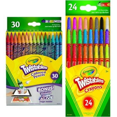 Crayola Twistables Set 30 Colored Pencils And 24 Crayons](Crayon Pencil)
