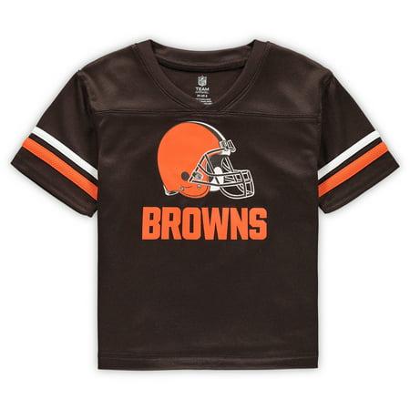 Neck Matte Jersey (Toddler Brown Cleveland Browns Mesh V-Neck Jersey)