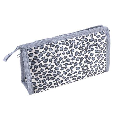 Unique Bargains White Single Pocket Leopard Printed Makeup Cosmetic Pouch Bag for Women Lady](Leopard Print Makeup Tutorial Halloween)