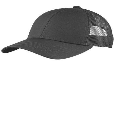 Men's Adjustable Mesh Back Cap OSFA Carbon Grey, 100% cotton twill front panels By Port - Carbon Fiber Top Cap