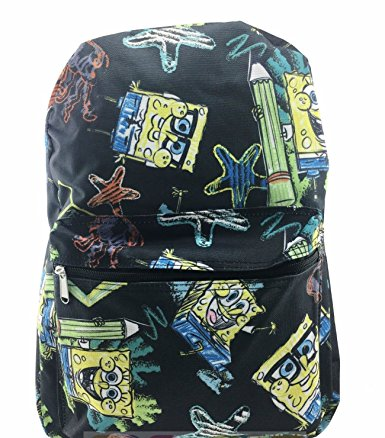 Backpack SpongeBob SquarePants Black New 100216 by Ruz