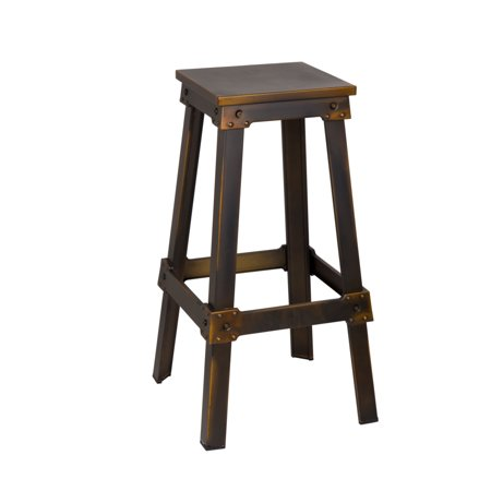 Fine Mod Imports Porch Bar Stool, (Metal Bar Stock)