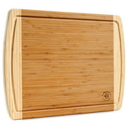 Extra Large Bamboo Cutting Board, Kitchen Chopping Board, Wooden Cutting Board With Juice Grooves.