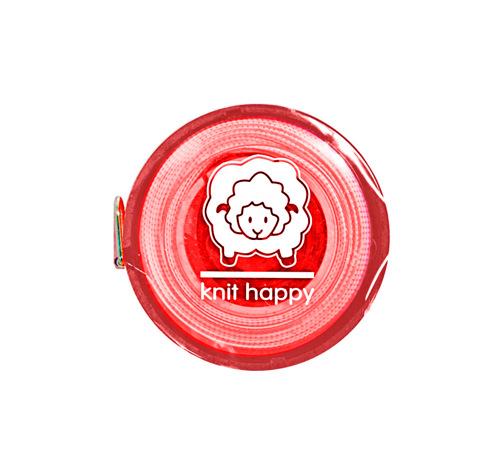 Knit Happy Tape Measure Red