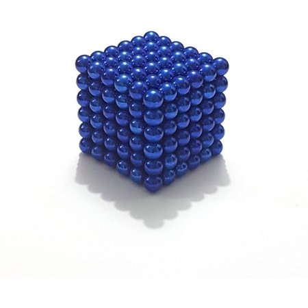 Magnetic Stress Relief Balls 5mm DIY Buildable Magnets Toy for Fun or Decoration(blue, 216PCS) (Fun Magnets)