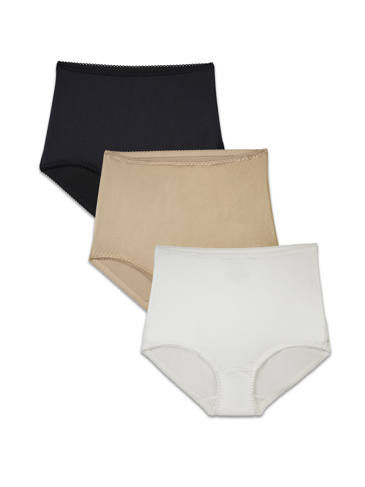 767a3d280af Radiant by Vanity Fair - Women's Undershapers Light Control Brief Panty, 3  Pack, Style 3440301 - Walmart.com