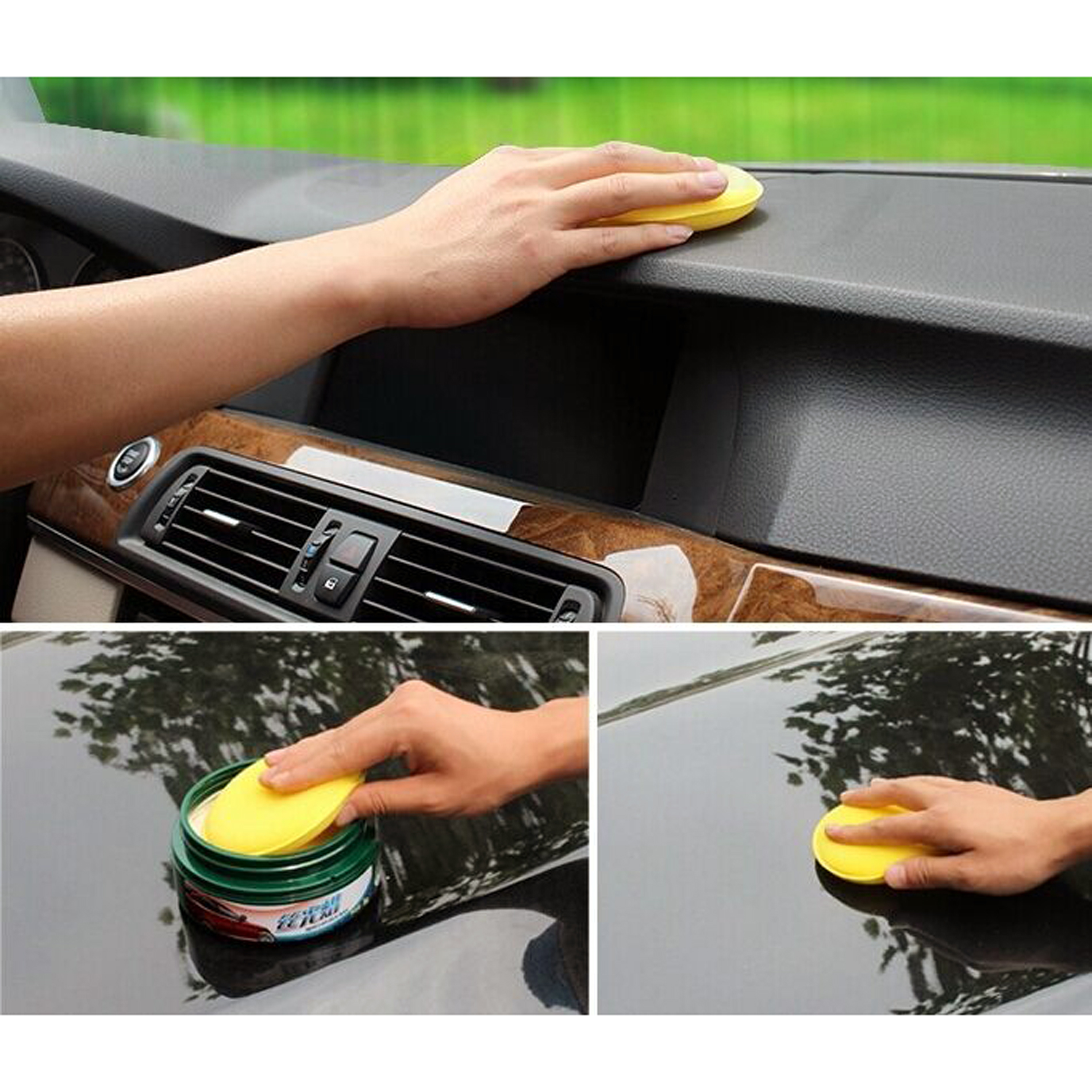 12x Car Waxing Polish Foam Sponge Wax Applicator Cleaning Pad by Unbranded