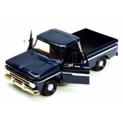 1966 Chevy C10 Pickup Truck, Blue - Motor Max 73355L - 1/24 Scale Diecast Model Toy Car (Brand New but NO BOX)