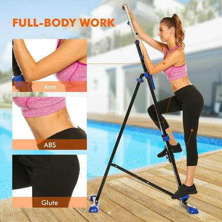 Studiostore 2in1 Vertical Exercise Climber Machine Fitness Folding Climbing Machine Stepper -Total Body