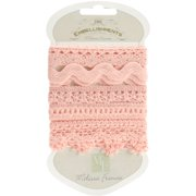 """Lace Trim 5 Styles 18"""" Each-Pink"""