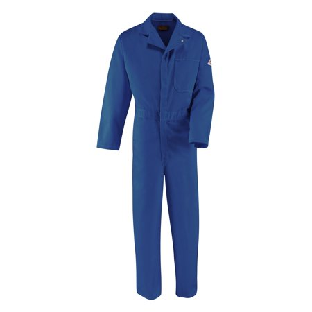 58 Regular Royal 9 Ounce Bulwark EXCEL FR Cotton Flame Resistant Classic Coverall With Front Zipper Closure And Side Vent (Vented Zippered)