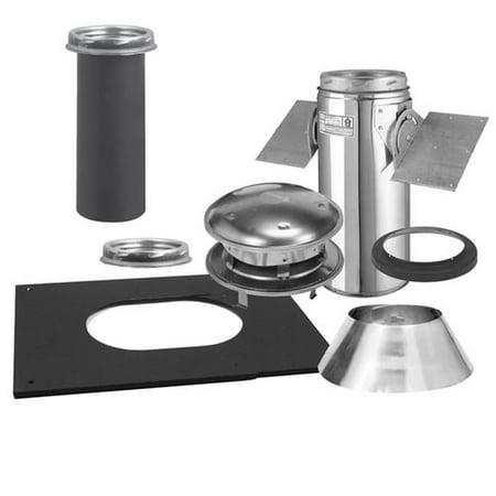 - Selkirk Corporation 6T-PCK 6 Inch  Ultra-Temp Pitched Ceiling Support Kit  Stainless