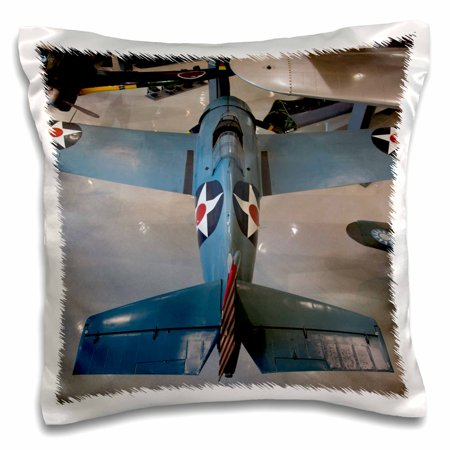 3dRose Florida, Naval Aviation Museum, WWII F4F War plane - US10 WBI0506 - Walter Bibikow, Pillow Case, 16 by 16-inch