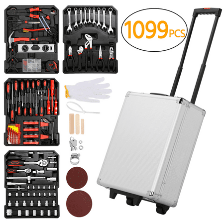 1099pcs Tool Kit Tool Set Aluminum Portable Case Mechanics Kit Box (Best Portable Tool Set)