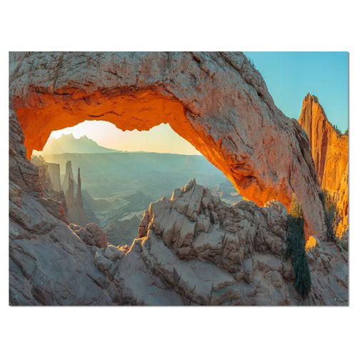 Design Art Mesa Arch Canyon Lands Utah Park Photographic Print on Wrapped Canvas