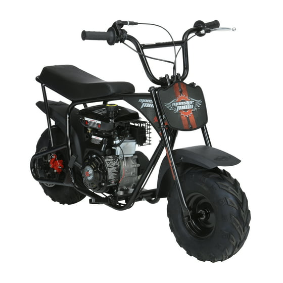 Monster Moto Classic Gas-Powered Mini Bike, Black With Pink