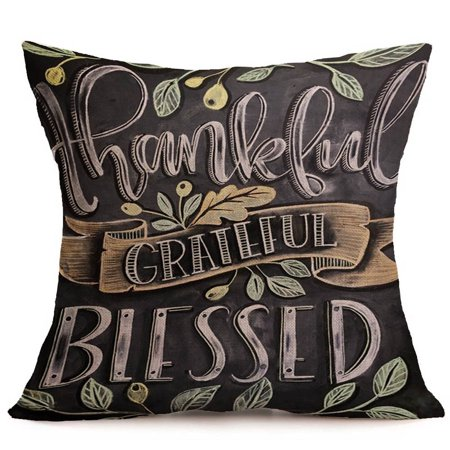 Happy Fall Thanksgiving Day Soft Linen Pillow Case Cushion Cover Home Decor](Hippy Home Decor)