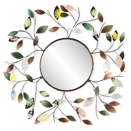 Southern Enterprises Metallic Leaf Wall Mirror - 32.5 diam. in.