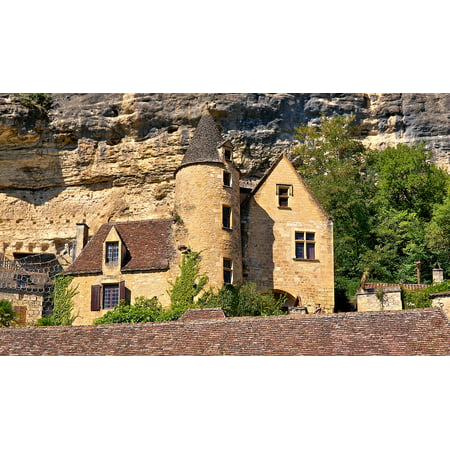 French Chateau House (LAMINATED POSTER Estate Dordogne Chateau France House Home Castle Poster Print 24 x)