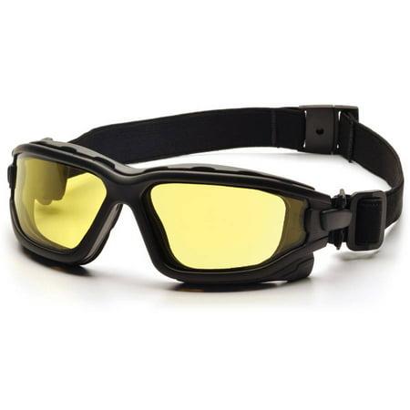 Pyramex I-Force Black Frame Amber AF Lens Sealed Eyewear