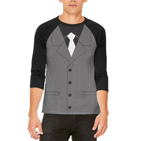 Halloween 20's Gangster Costume Mens Raglan T Shirt - Woman Gangster Halloween Costumes
