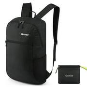 Gonex 30L Packable Backpack -Foldable Backpack Lightweight Travel Hiking Daypack Daily-use for Men & Women (Black)