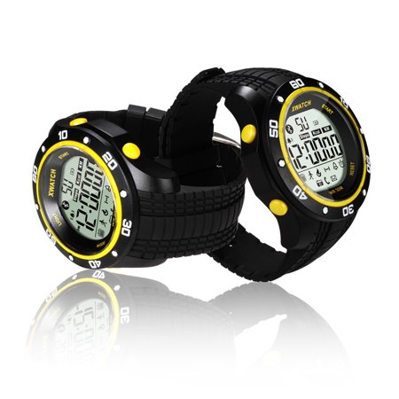 Indigi® Waterproof Bluetooth 4.0 Rugged Sport Style Watch w/ Step Counter + Calorie Count + Remote Shutter + Smart Alarm