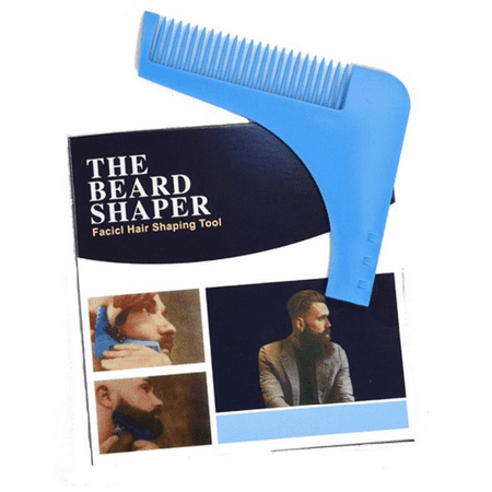 Grooming Guide (Beard Shaper Comb for Shaving - Symmetric Beards Shaping Tool, Styling Template, Facial Hair Grooming Kit Guide for Men by Shave Classic + Facial Hair Remover)