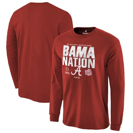 Alabama Crimson Tide Fanatics Branded College Football Playoff 2016 Peach Bowl Bound Nation Long Sleeve T-Shirt - Crimson ()