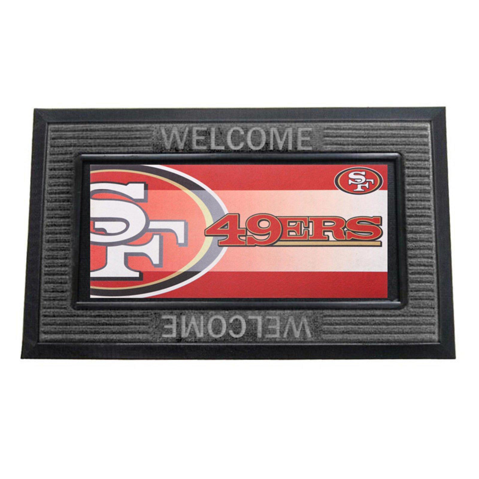 Team Sports America NFL Football Welcome Diamond Decorative Doormat