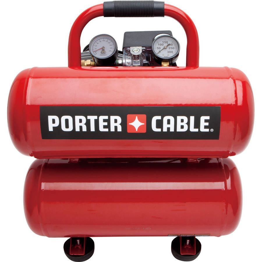 Porter Cable PCFP02040 4-Gallon Stack Tank Electric Air Compressor by Porter Cable