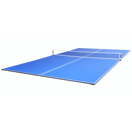 JOOLA Tetra 4-Piece Conversion Table Tennis Top with Ping Pong Net Set, 12mm Surface, Regulation Size 9' x 5', Blue,