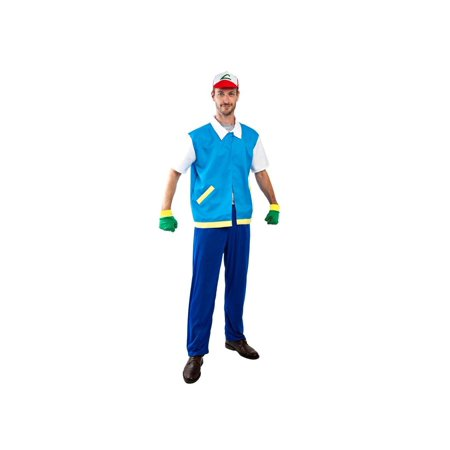 Adult Ash Animal Collector (Ash Ketchum Costume Men's)
