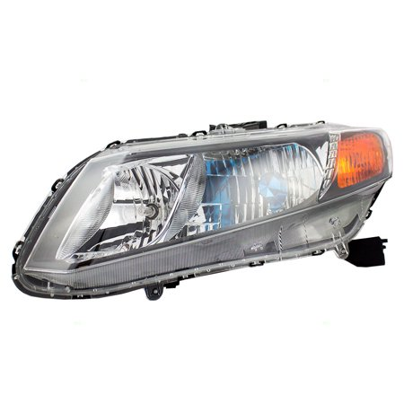 Square Hybrid Head (Drivers Halogen Combination Headlight Headlamp Replacement for 2012 Honda Civic Hybrid)