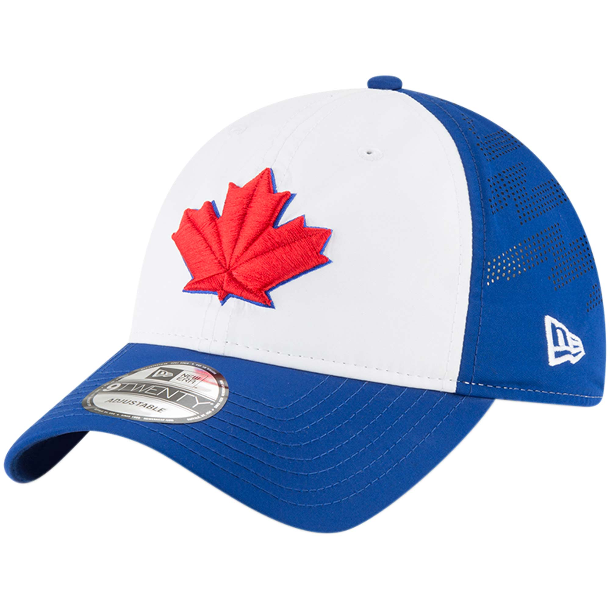 Toronto Blue Jays New Era Prolight Batting Practice 9TWENTY Adjustable Hat - White/Royal - OSFA