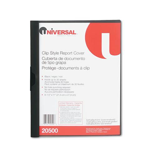 Universal Plastic Report Cover W/Clip (Set of 7)