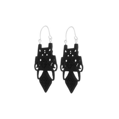 Black Wooden Earrings for Women Fashion Jewelry Handmade Dangle Earrings for Ladies Gifts Online