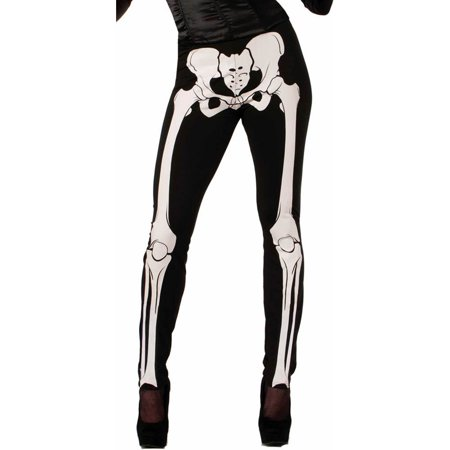 Plus Size Skeleton Print Leggings - Plus Size Womens Skeleton Costume