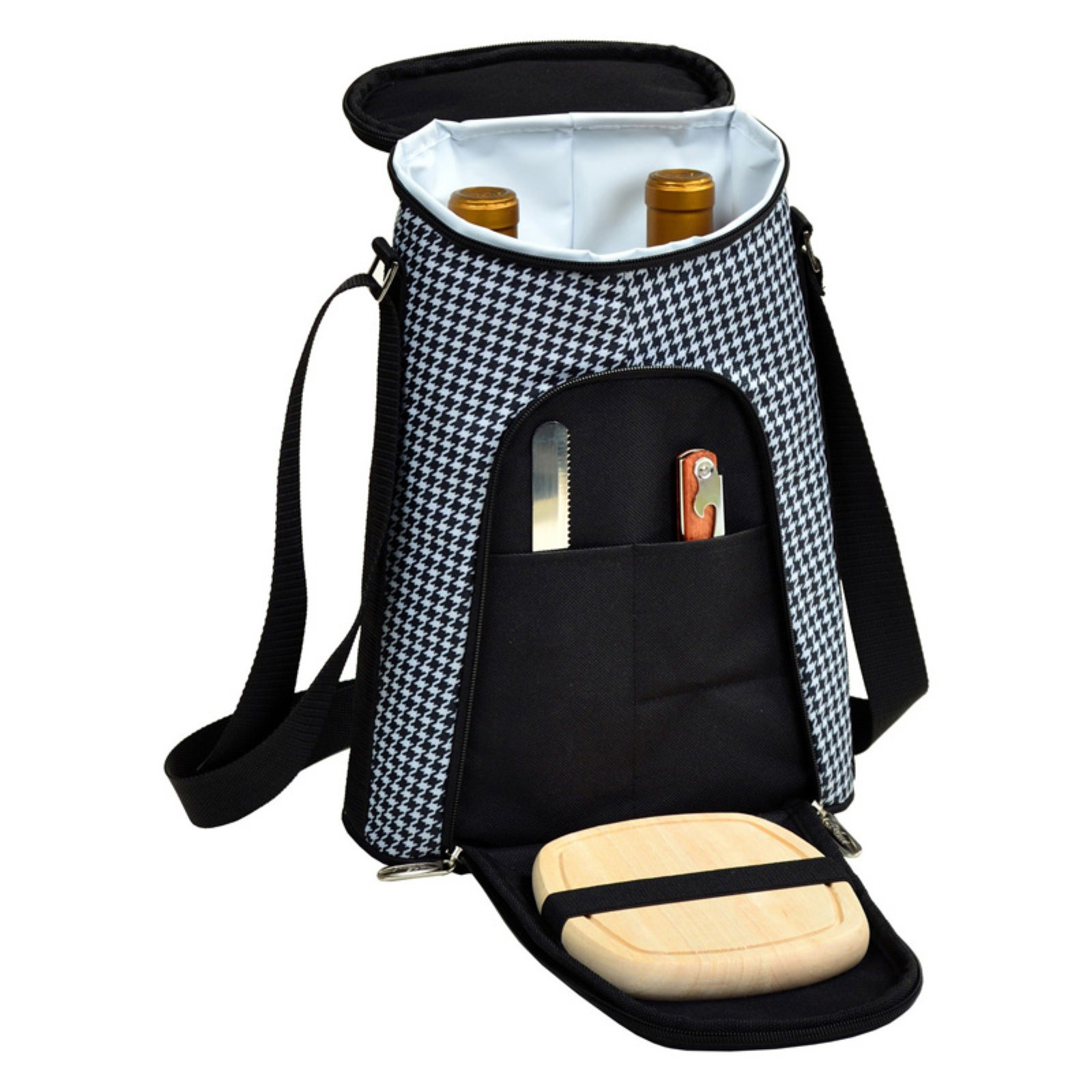 Picnic At Ascot Houndstooth Wine and Cheese Cooler