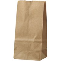General #2 Kraft Paper Grocery Bags, 4 5/16 x 2 7/16 x 7 7/8, 500 count