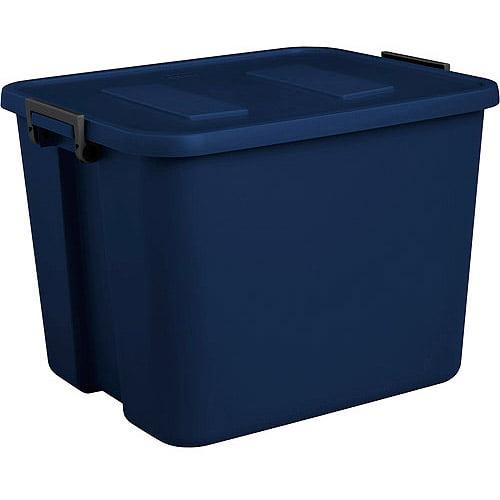 Sterilite 20 Gal Latch Tote - Navy Blue