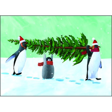 Allport Editions Penguin Tree Box of 15 Christmas (Tree Boxed Christmas Cards)