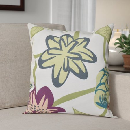 Red Barrel Studio Engine House Tropical Floral Outdoor Throw Pillow