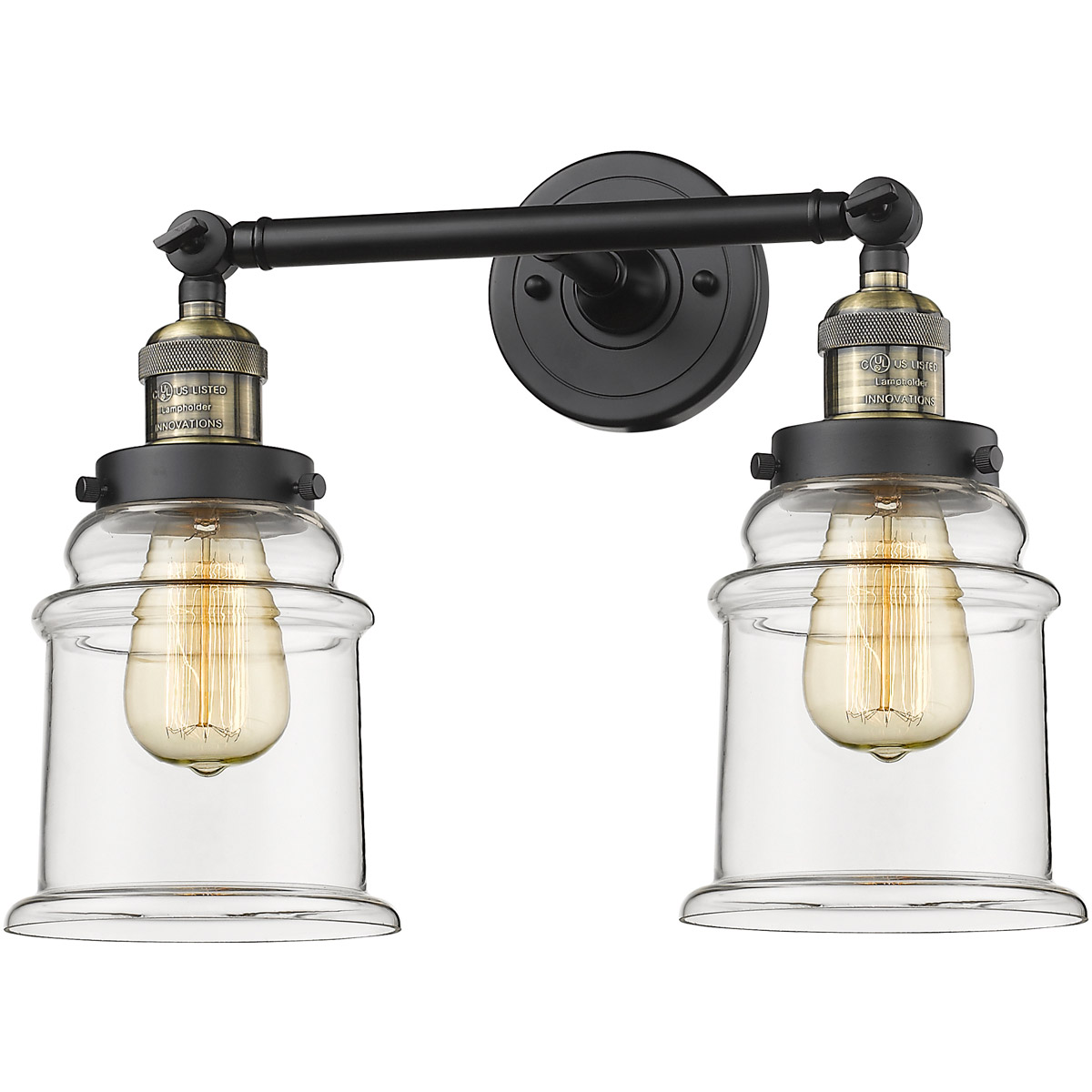 Bathroom Vanity 2 Light Fixtures With Black Antique Brass Finish Cast Brass Glass Material Medium 17 200 Watts Walmart Com Walmart Com