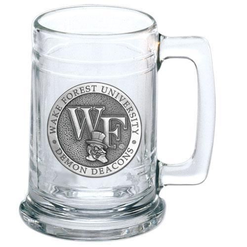 Wake Forest University Glass Beer Stein
