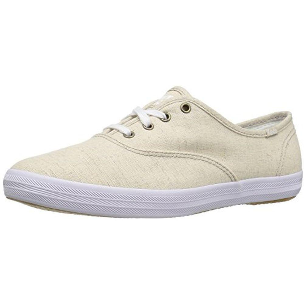 Keds WF56437 Women's Champion Seasonal Spring 2017 Linen Fashion Sneaker, Natural, 7.5 M US by Keds