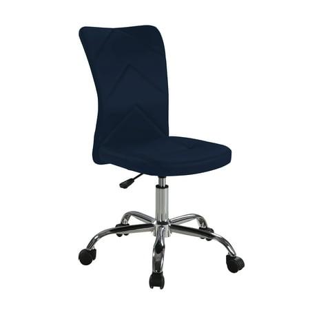 Mainstays Chevron Adjule Height Armless Task Chair Multiple Colors