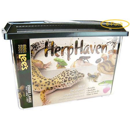 Lees HerpHaven Terrarium - Rectangular Large - 14.5L x 8.75W x 9.75H - Pack of 6 ()